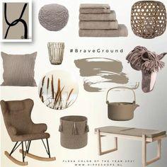 Brave Ground is door Flexa Dulux uitgeroepen tot de interieurkleur van het jaar 2021 Minimal Home, Home Living Room, Colorful Decor, Interior Inspiration, Bedroom Inspiration, House Colors, Decor Styles, House Design, Interior Design