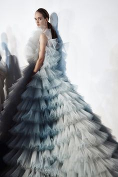 For his spring/summer 2016 haute couture presentation, the designer took inspiration from the gardens of Paris.
