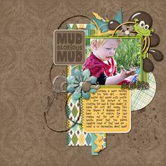 digital scrapbook layout by suzy