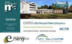 Rendez-vous  du Pavillon de l'Architecture de PAU Jeudi 21/09 : EHPAD « Bon Pasteur Maria Consolata »