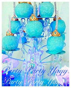Frozen birthday party shimmer apples with edible elsa crown! By Party Party Yayy!