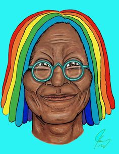 """""""So glad you're on the mend Whoopi. When the sun comes out after a storm there's always the gentle magic of a rainbow. So stay strong. We love you and we need you. Jim Carrey, We Need You, Pocahontas, Pop Culture, Disney Characters, Fictional Characters, Rainbow, Disney Princess, History"""