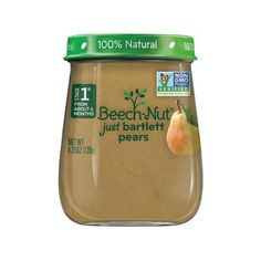 Beech-Nut Just Bartlett Pears Stage 1 Baby Food, 4.25 oz, (Pack of 10)... (34 BRL) ❤ liked on Polyvore featuring food