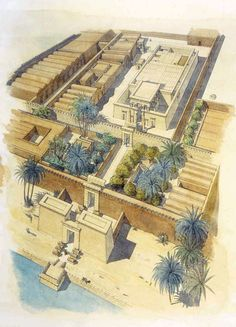 The Temple of Hibis in the Kharga Oasis by Jean-Claude Golvin Ancient Egyptian Architecture, Ancient Egyptian Art, Historical Architecture, Ancient History, Egyptian Temple, Casa Anime, Architecture Concept Drawings, Old Egypt, Arquitetura