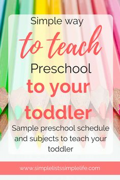 Bring the preschool classroom to your home. Easy schedule for Mom and child to follow to learn preschool skills and get ready for kindergarten. Have your child doing preschool activities and preschool crafts following a schedule of your own!