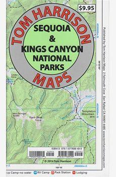 Sequoia and Kings Canyon National Parks Recreation Map by Tom Harrison Maps Contour Line, National Parks Map, Latitude Longitude, Parks And Recreation, San, Hiking Maps, Arrow Keys, Close Image, Trail