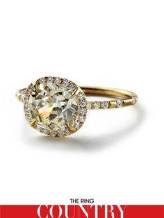 monique Pean Atelier  cushion yellow diamond