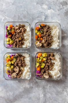 Skip the Korean take out and make these Bulgogi Korean Beef Bowls at home instead! Perfect as a weeknight dinner or as a meal prep! Clean Recipes, Beef Recipes, Whole Food Recipes, Dog Food Recipes, Cooking Recipes, Healthy Recipes, Clean Foods, Lunch Meal Prep, Healthy Meal Prep