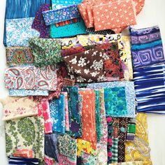 vintage fabric selection