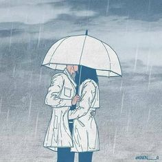 ❤️ we love the rain❤️ Cute Couple Drawings, Cute Couple Art, Cute Couples Goals, Cute Anime Couples, Rainy Day Quotes, Character Prompts, Couple Illustration, Rainy Days, Anime Love