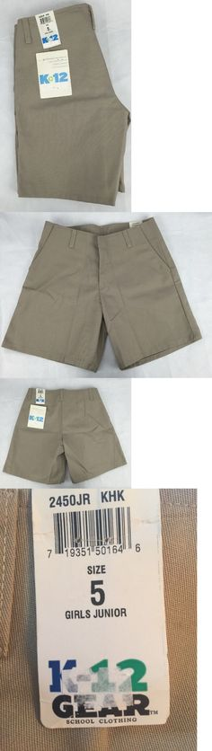 6f8aa69f2b3 Uniforms 28017  School Uniform Shorts Khaki Girls Juniors Sz 5 Lot Of 3  K-12 Gear 2450Jr New -  BUY IT NOW ONLY   34.99 on eBay!