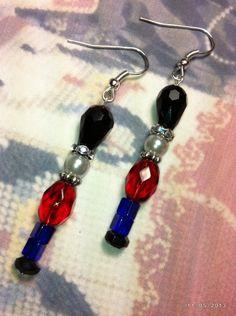 Christmas Nutcracker Inspired Beaded Earrings
