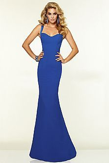 Simple Design Sweetheart Floor Length Mermaid Royal Blue Cheap Sexy Backless Prom Dress