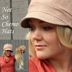8bdb6e136a9 The Not So Chemo Hat .. The hair pieces are detachable so it s not so hot  )