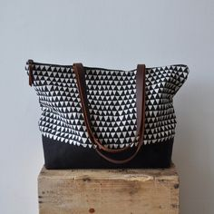 ZIP TOTE - triangle. $85.00, via Etsy.