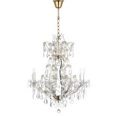 Safavieh Couture High Line Collection Celene Crystal Chandelier (LIT1079A) (Iron)