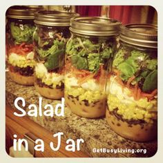 Get Busy Living: Salad in a Jar Ideas