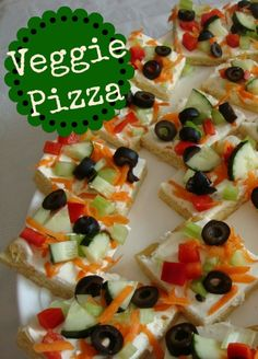 Veggie Pizza!  This is the BEST party food! Need to find a healthy crust for this recipe.