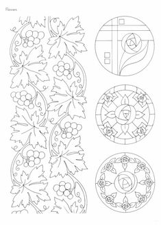 "Photo from album ""Art Nouveau Designs"" on Yandex. Motifs Art Nouveau, Design Art Nouveau, Art Nouveau Pattern, Art Deco, Border Pattern, Pattern Design, Colouring Pages, Coloring Books, Embroidery Patterns"