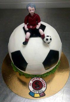Dětský narozeninový dort (Moje cukrářství) Soccer Ball, European Football, European Soccer, Soccer, Futbol