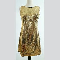 Moschino Gold Sequined Dress This dress is immaculate with a back zip closure.  Make a statement in Moschino! Moschino Dresses