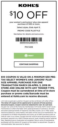 f09164739af40 Kohls Coupons  30% Off Promo Codes   Printable Coupons