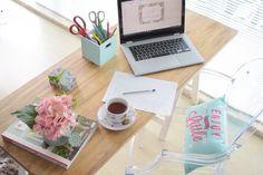 Lardecoramado: DIY - Escrivaninha com cavaletes!