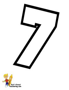 Cheerleader Numbers Chart to Print at YesColoring