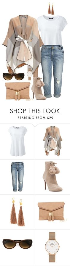 """Give it time- plus size"" by gchamama ❤ liked on Polyvore featuring Lands' End, KUT from the Kloth, MICHAEL Michael Kors, Gorjana, Urban Expressions, Martha Medeiros, Daniel Wellington and plus size clothing"