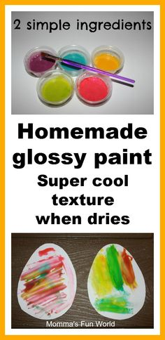 Homemade glossy paint with cool texture