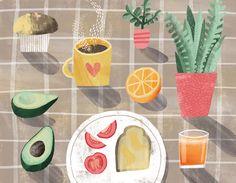Breakfast food illustration / Essi Kimpimaki