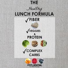 Formula for a Healthy Lunch