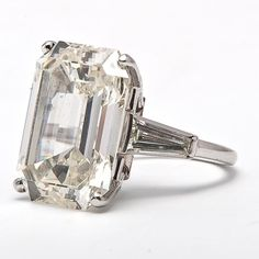 Magnificent 19.68ct Diamond Platinum Engagement Ring. I just wouldn't argue with this.....
