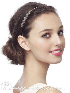 Dessy Bridal Headpiece Beaded Headband / H-RCBAND from the Wedding Shoppe, http://www.weddingshoppeinc.com #rhinestone #jewels #headpieces #wedding #hairstyles $11.95