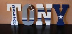 """13"""" Cowboys football letters by LoveBbyCarrie on Etsy"""