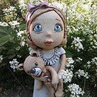 Prodané zboží   Fler.cz Pottery Sculpture, Garden Sculpture, Teddy Bear, Clay, Dolls, Outdoor Decor, Animals, Art, Clays