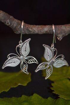 A very juvenile design of butterflies earrings