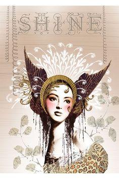 PAPAYA! Art Shine Girl 5x7 Card - Occasions - SHOP