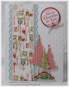 great patterned paper and love the whimsical trees as well as all the colors.