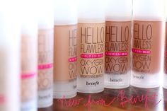 Benefit hello flawless oxygen wow. My new favorite Foundation, Makes your skin flawless!  I want to try this.