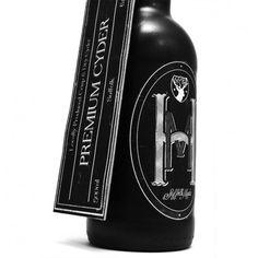 Cyder bottle designed by Benjamin Carr, UK | #packaging #blackwhite #cyder