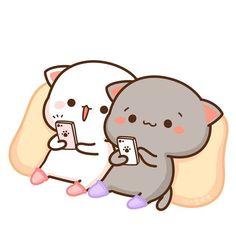 Pin by stacy phillips rodgers on autumn in 2019 dibujos de gatos, dibujos k Cute Cartoon Images, Cute Couple Cartoon, Cute Love Cartoons, Cute Cartoon Wallpapers, Kawaii Illustration, Illustration Mignonne, Chat Kawaii, Kawaii Cat, Kawaii Chibi