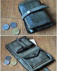 Оливковый кошелек  Одно отделение для купюр + отделения для монет и карточек (вместительность 20 карт)  #кожаные_аксессуары #мужской_кошелек #кожанный_кошелек #burtsevbags