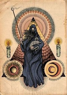 I adore all things occult. Inspiration Art, Art Inspo, Potnia Theron, Tarot, Esoteric Art, Arte Obscura, Occult Art, Mystique, Art And Illustration