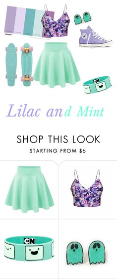 """""""Lilac & Mint"""" by lillyyybell ❤ liked on Polyvore featuring interior, interiors, interior design, home, home decor, interior decorating, Ally Fashion, Converse, colorchallenge and lilacandmint"""