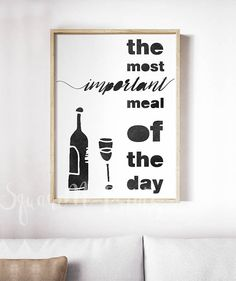 WINE Print, Kitchen Wall Art Decor, Wine Lovers Gift Card, Watercolor Monochrome Wine Funny Quote, Wine Sign, Kitchen Sign, Digital Download This is a digital file, ready for instant download. It can be printed on your own computer, by your local print/photo shop,or have it printed online.