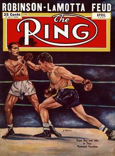 1951 Ring (April) - Sugar Ray Robinson - Jake LaMotta Feud