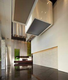 lobby Lobby Reception, Lobby Bar, Reception Counter, Lobby Lounge, Reception Design, Sales Center, Lobby Design, Interior Design Inspiration, Color Trends