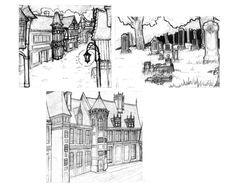 Olvena town - sketches by gothiclucy666.deviantart.com on @DeviantArt