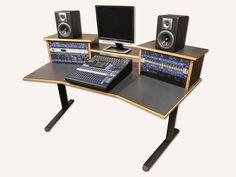 Simple Wood Gray Studio Desk Design with Elegant Black Aluminum Legs for Interior Furniture Ideas